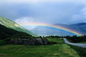Rainbow over Norwegian Countryside Norway